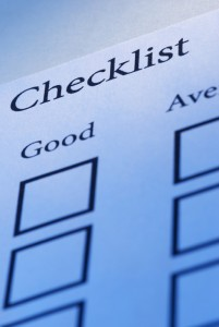 Paper-based checklists can be converted into electronic form for use with inspection software.